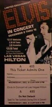 Elvis Concert Tickets 1976