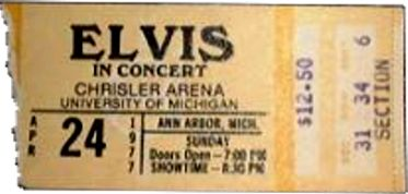 Elvis Concert Tickets