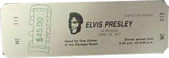 Elvis Concert Tickets