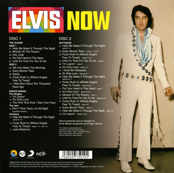 CD Elvis Now FTD 506020-975010